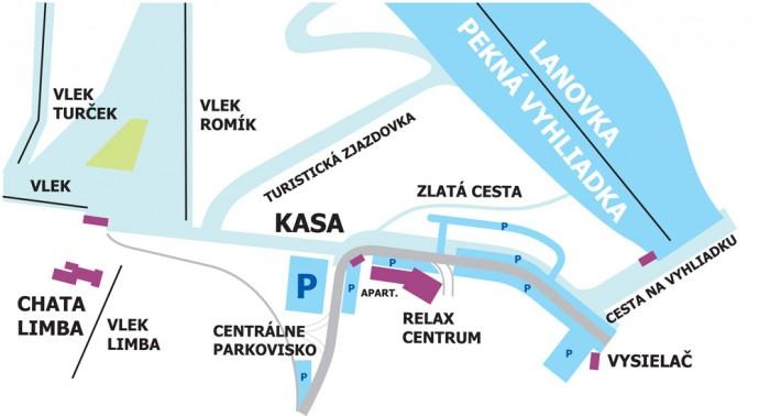 mapa strediska A4