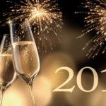 Champagnerglser mit Feuerwerk 2017